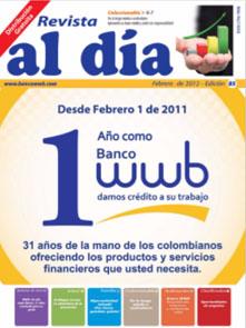 imagen Revista WWB al día Edición 85-Desde Febrero 1 de 2011 un año…
