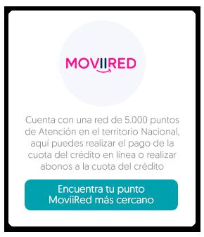Botón encuentra tu punto MoviiRed más cercano