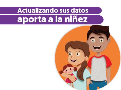 imagen actualizando sus datos aporta a la niñez