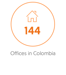 144 offices in colombia